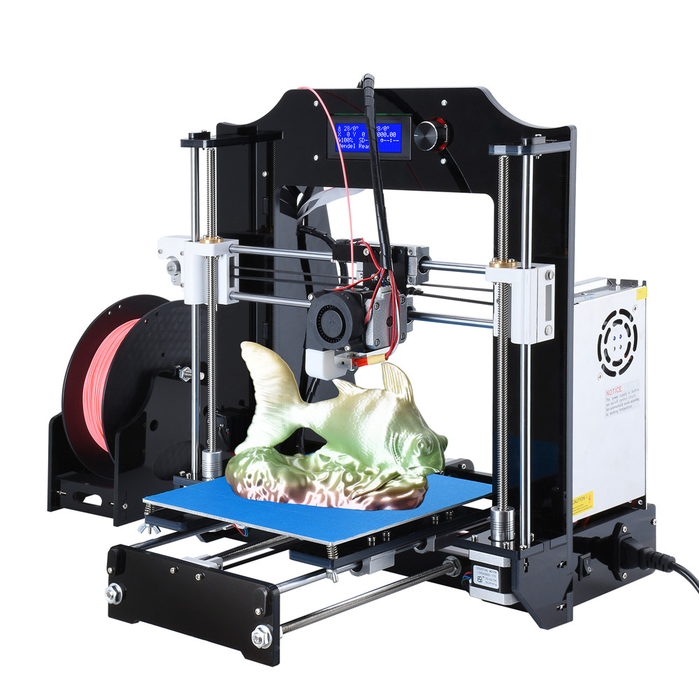 New style sunhokey digital prusa i3 3d printer machine one roll filament Memery card printing service Desktop 3D Printer