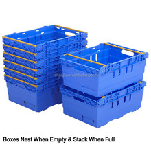 stackable mesh crate ,stacking logistic plastic container