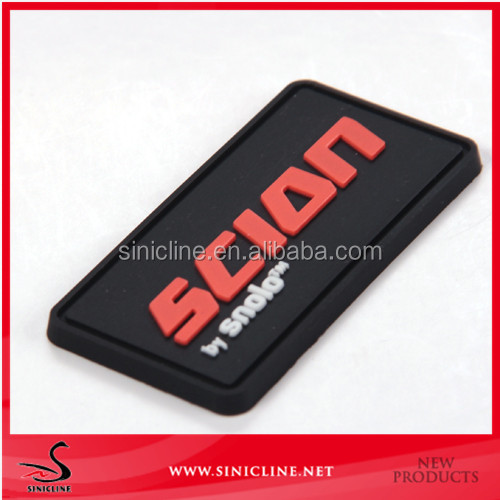 Sinicline new arrival custom logo embossed 3d clothing silicone labels