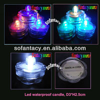 colour changing led submersible candle,led waterproof tealight candle