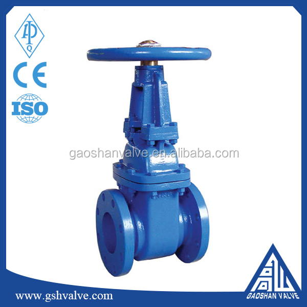 ductile iron 6 inch water flanged gate valve
