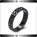 Daihe Cheap Black Color spikes stainless steel ring