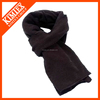Men knit custom acrylic black scarf