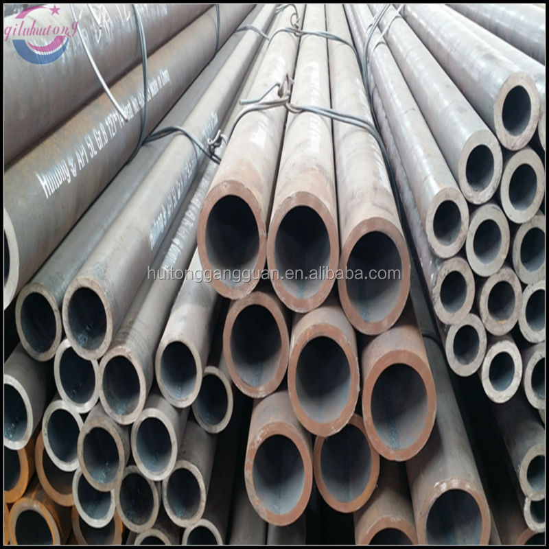 A106 big size range of wall thickness diameter length hot rolled carbon seamless steel pipe for liquid service tube ASTM,DIN,JIS