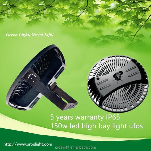 5 years warranty IP65 150w led high bay light ufos