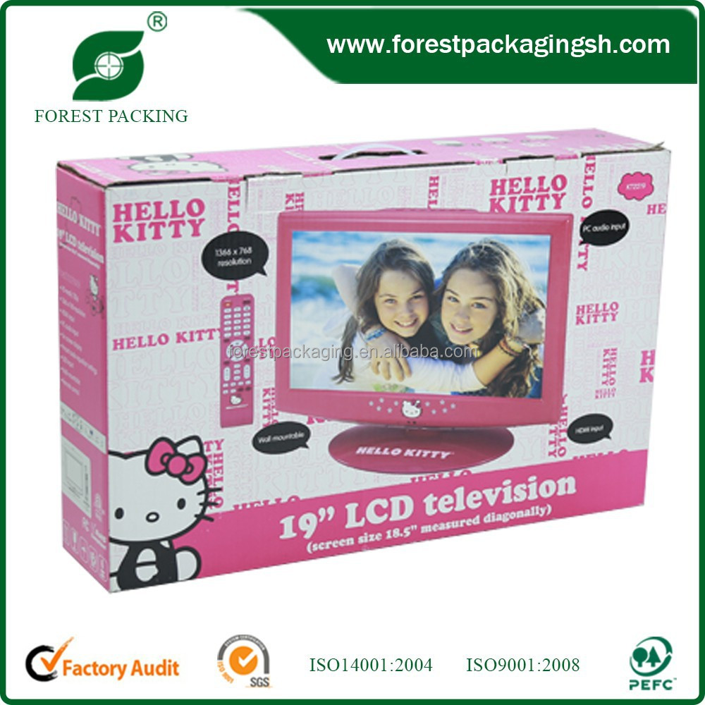 CUSTOMIZED PROTECTIVE CARTON BOX FOR TELEVISION
