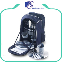 Outdoor trip 2 person picnic cooler backpack bag