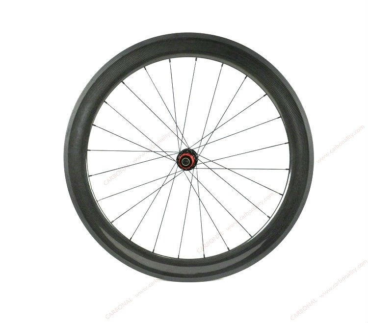 Full Carbon Road Bike Tubular Wheelset