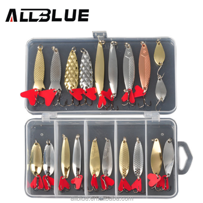 Mixed Colors Fishing Lure Set Spoon Metal Lure Kit Hard Bait Fresh Water Bass Pike Fishing Equipment