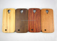 made in china natural PC wood phone case Wooden cover For Samsung S4