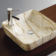 HY8005D1 Decorated bathroom ceramic stone color wash basin