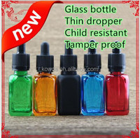 Various Children safety cap 30ml glass bottle 15ml glass bottle glass pipette droper bottle for eliquid vaporizer pen refilling