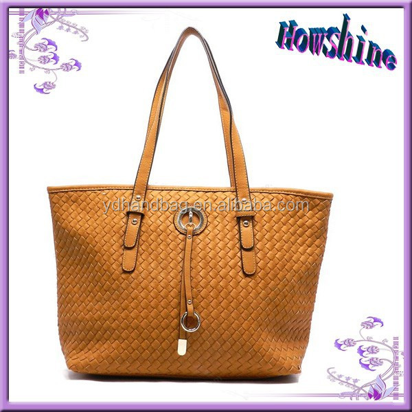 Hot Brand Ladies Fashion Leather Bags Philippines Woven Leather Tote Bag for Shopping