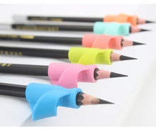 Non-toxic children writing pencil holder aid correct silicone pencil grip