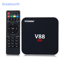 rk3229 V88 Quad Core Android 5.1 Smart TV Box Kodi IPTV Media Player 1G/8G install free play