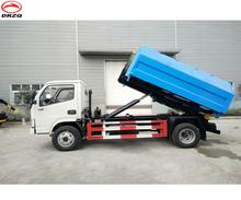 4 wheels rear hook lifting garbage trucks for sale in South Asia