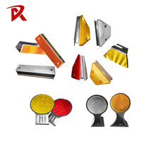 Guardrail Trapezoid Delineator Post Aluminium Road Reflector