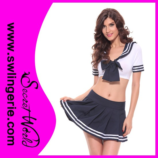Hotsale cheap adult sex school girl costume for halloween party