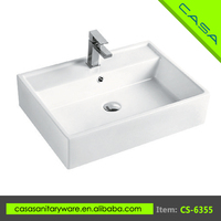 Shantou hot sale art ceramic bathroom countertops with built in sinks