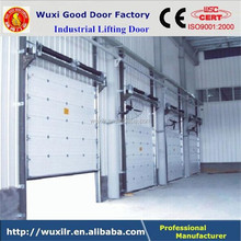 Electric Setional Finger Protection Industrial Door with Window Inserts
