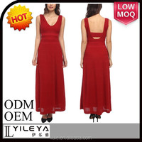 red maxi sexy lady evening dress for party