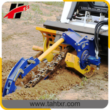 China mini trencher for bobcat skid steer loader