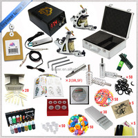 Professional top 2 gun machine with aluminum case Free shipping tattoo kit
