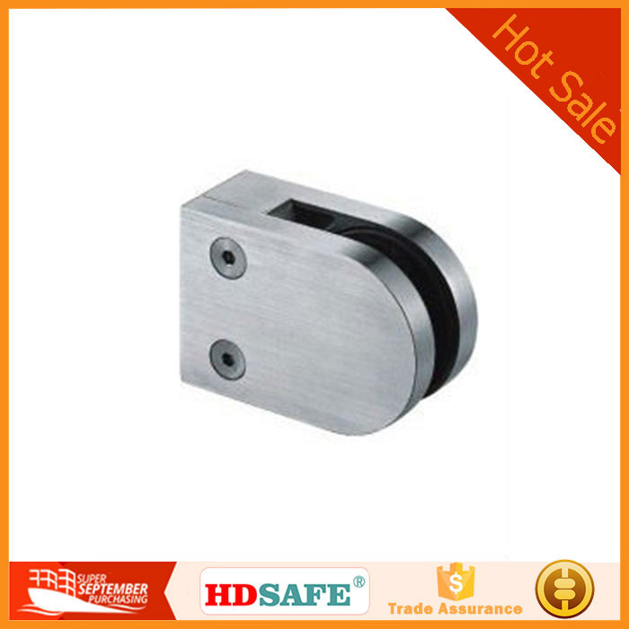 stainless steel glass holding clamp, glass railing clip made in China