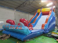 Gaint cartoon theme inflatable slip n slide Z3018