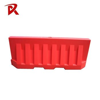 Highly visible plastic water filled highway road safety barriers
