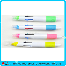 custom color 4 colors multicolor ball pen 1color highlighter with logo