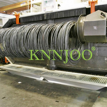 Double Station Coiled Wire Shot Blasting Machine