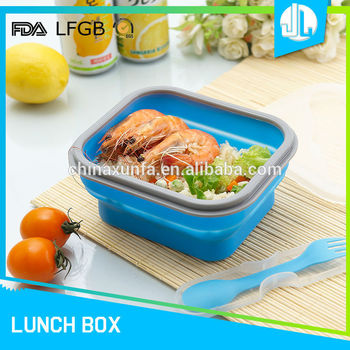 Folding silicone eco insulated lunch box