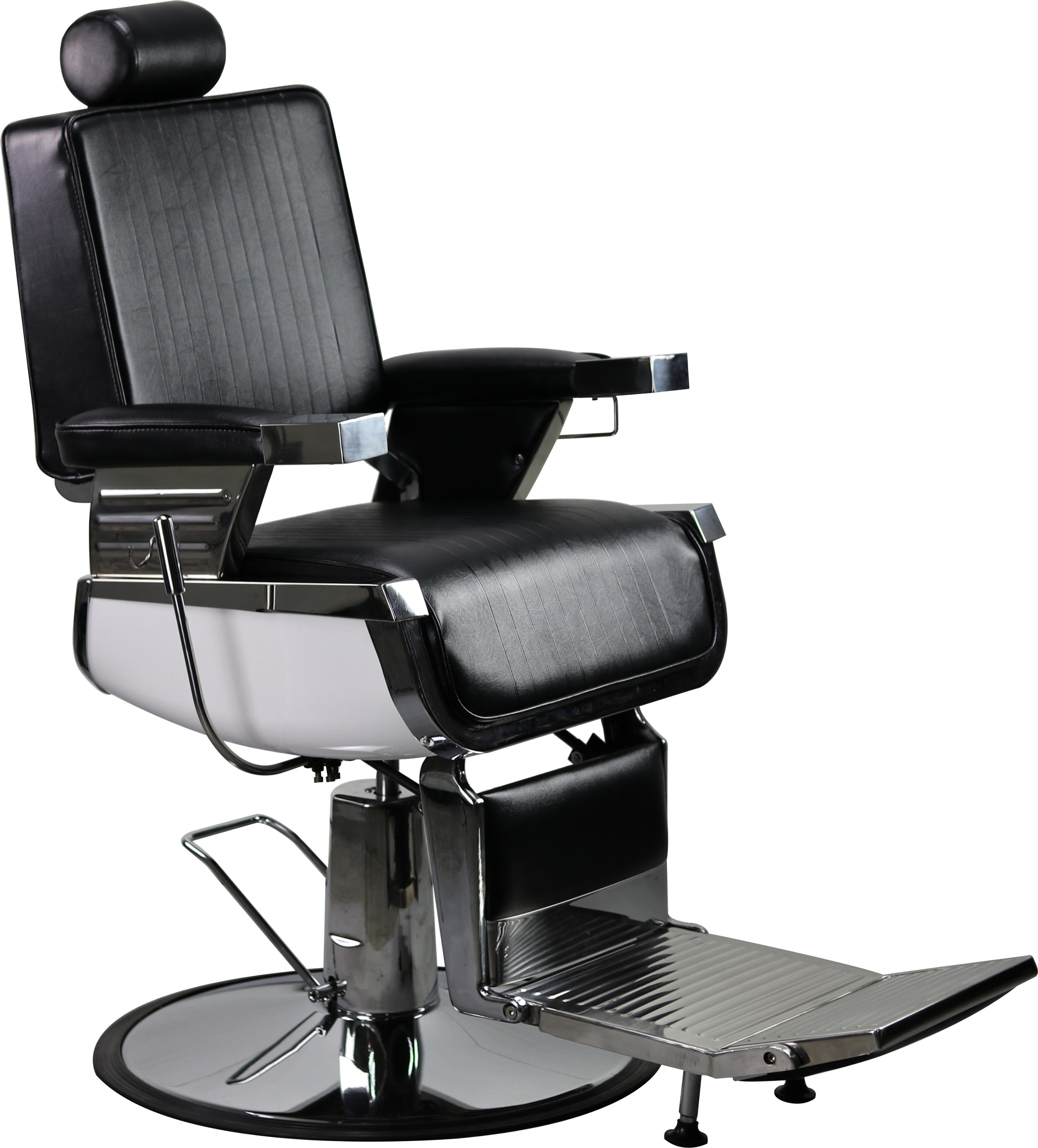 Stainless Steel Heavy Duty Hydraulic Recline Barber Chair
