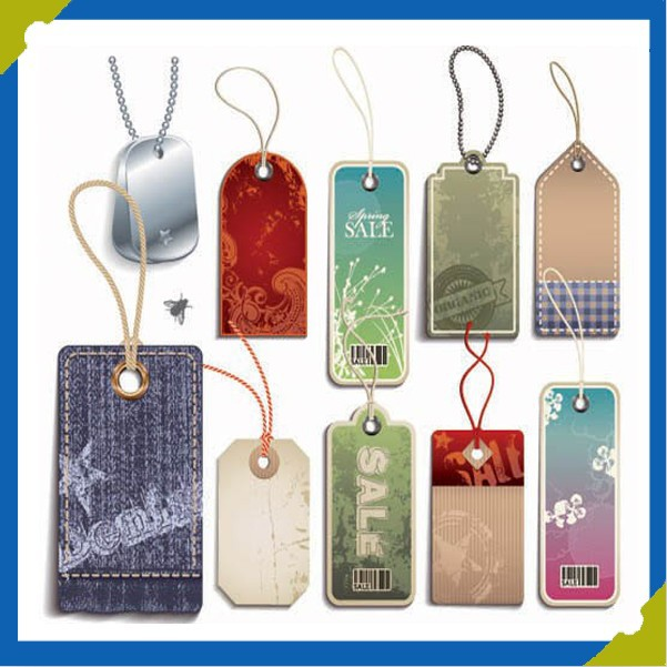 Apparel Costume Different Kinds Of DesignsTrademarks Paper-Mark Tags