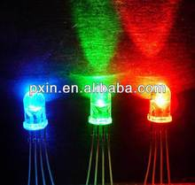 High brightness diffused 5mm led tri-color dip round