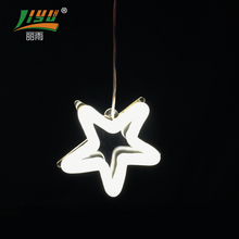 2017 white hanging christmas decoration lighted star