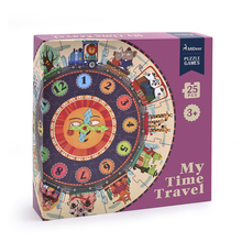 mideer MD3020 25 Pcs/set Big Puzzle Games Paper Puzzle Digital Clock Cognition Mideer My Time Travel for Kids Children