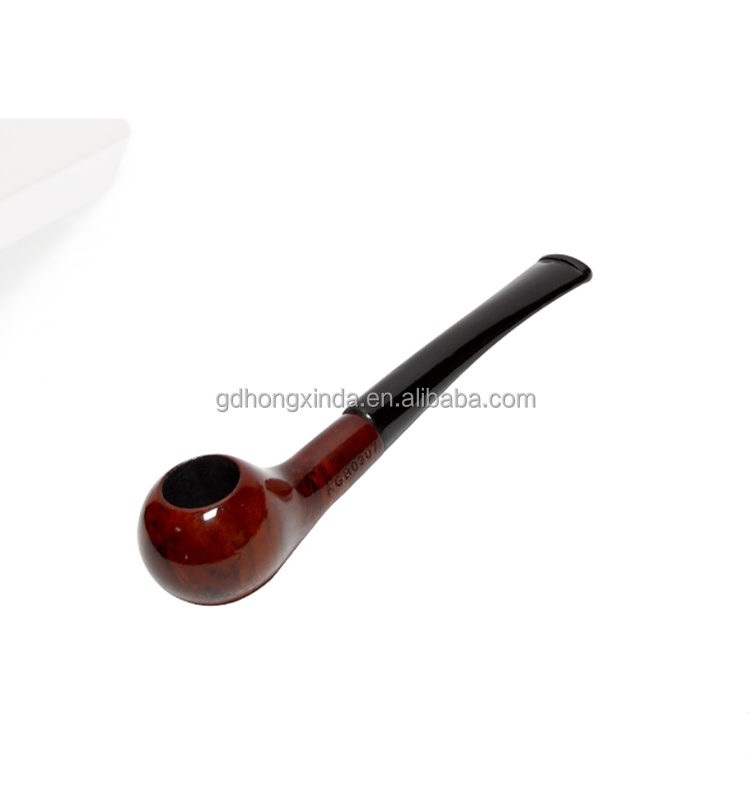 wooden smoke items HGB-0307 small wood tobacco pipe