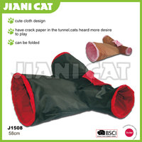 wholesale on alibaba,cute cloth shape,polyester material,pet toy of cat tunnel