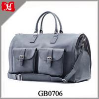 Genuine Leather Suitcase Leather Weekender Garment Duffel Bag