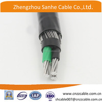 3*8AWG 8000 series aluminum alloy (AAAC )conductor concentric neutral cable for dominican
