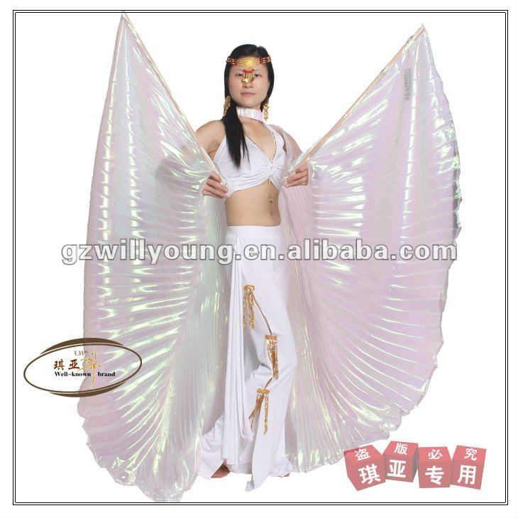 Hot selling white belly dance isis wings,isis wings dance props