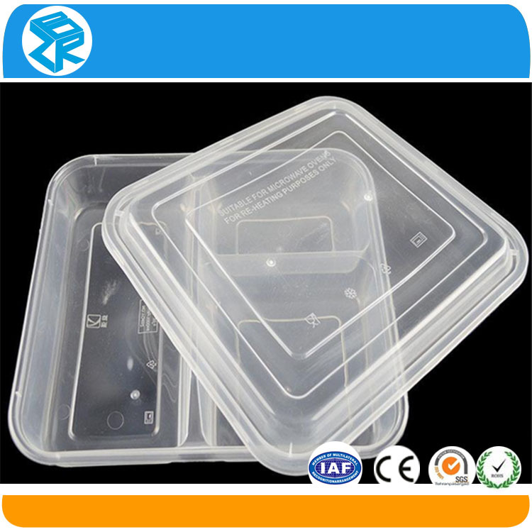 3-compartment disposable black microwave pp safe food container