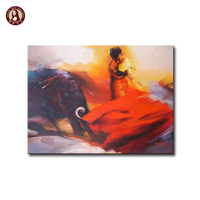 Actual Quality Show Funny Spanish Bullfighting Oil Painting