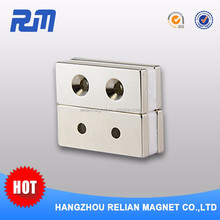 Custom shaped magnets neodymium manufacturers China super strong industrial electro countersunk magnet