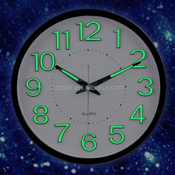 fluorescent light wall clock