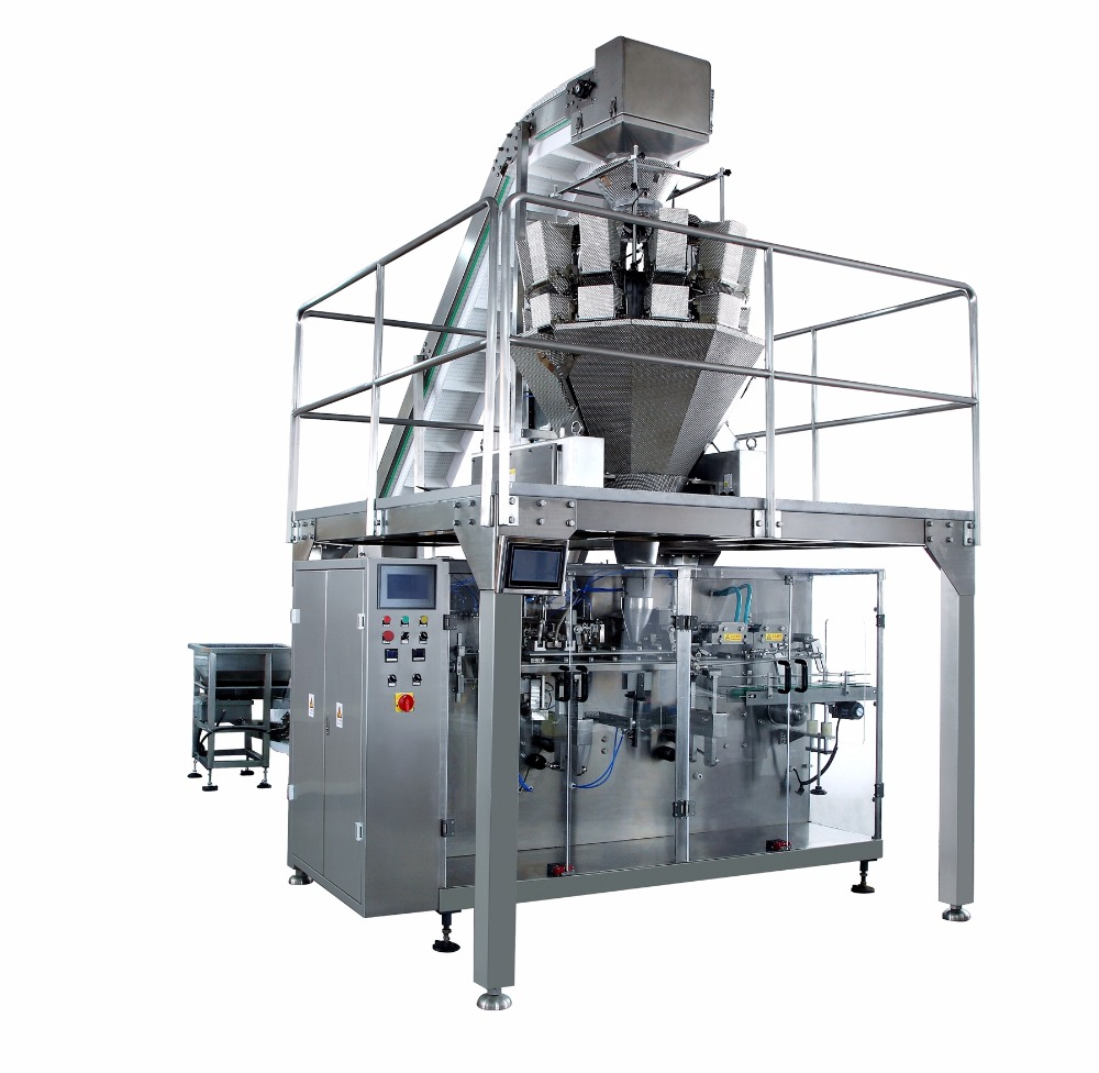 food sugar chemical packaging horizontal pre-made sachet filling packing machinery
