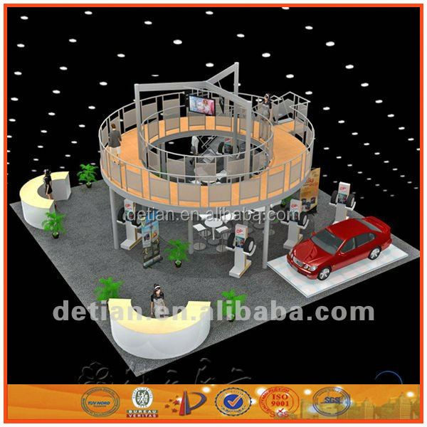Exhibit modular stand acrylic trade show display booth 10'x20' tension fabric structure
