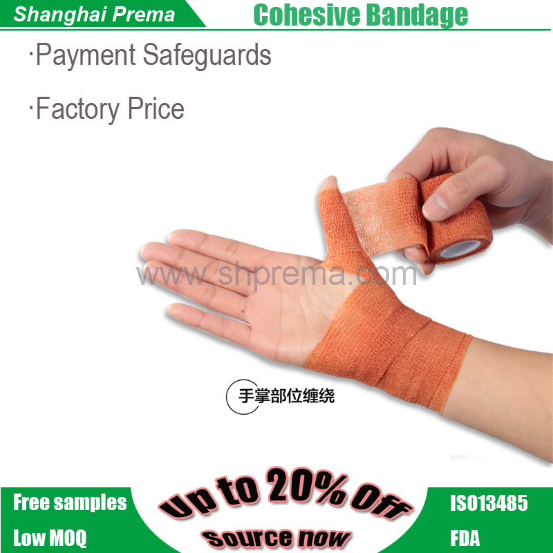 FDA Approved Fabric Veterinarian nonwoven Cohesive Bandage